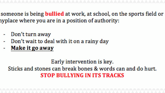 A few words by Joseph Bonczyk on Bullying