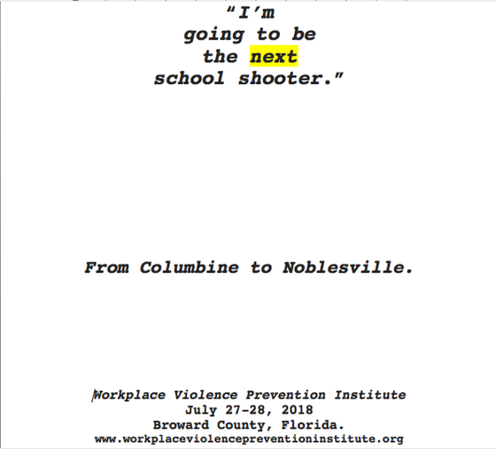 This week:  From Columbine to Noblesville