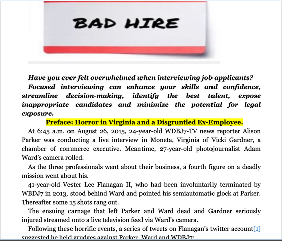Minimizing Workplace Violence by Hiring Right