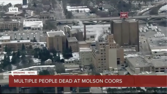 Terminated worker responsible for massacre at MolsonCoors Offices today