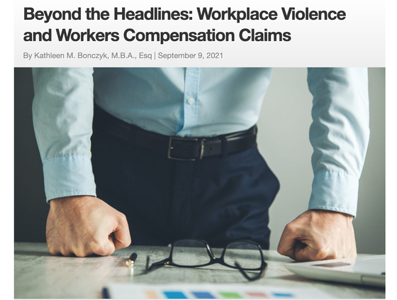 WVPI's Founder's Published Article: Workplace Violence, as a Covered Worker's Comp. Claim
