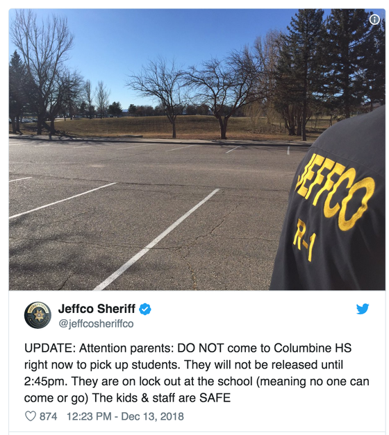 Yesterday's Bomb Threats at Columbine High School