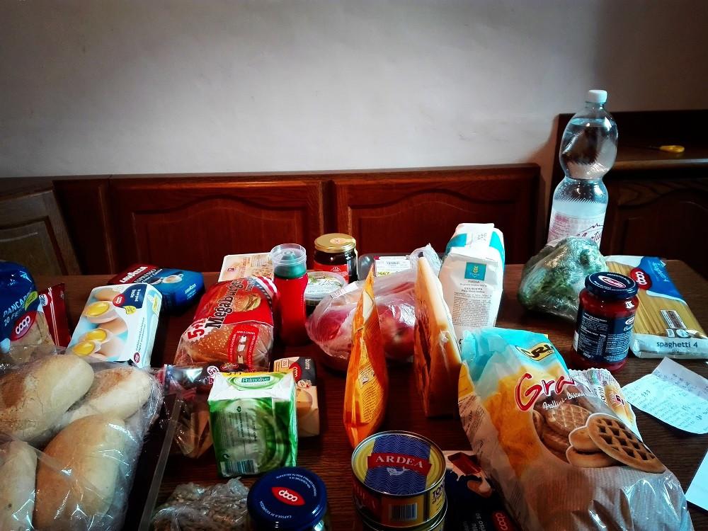 custo de vida na italia supermercado