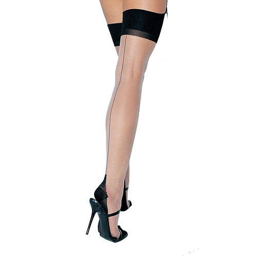 Leg Avenue Cuban Heel Backseam Stocking One Size