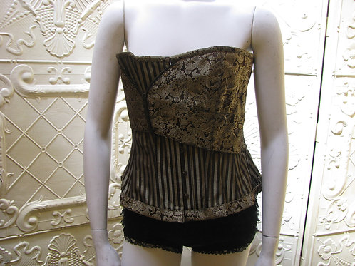 Gothic Brown Steampunk Over Bust Corset      Size 34