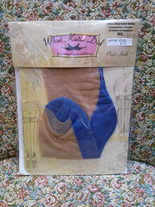 WhatKatieDid Glamour Contrast Seamed Stockings
