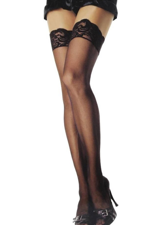 Leg Avenue Nylon Sheer Lace Top Stocking