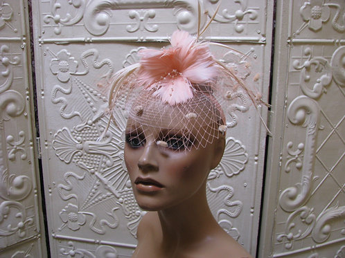 Hibiscus Feather Party Glamour Fascinator