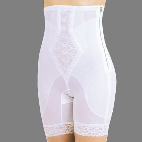 High Waist Long Leg Shaper with Side Zip, End Panty Lines, Medium Shaping