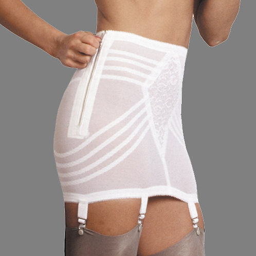 Open Bottom Girdle Firm Shaping Side Zip with Garters