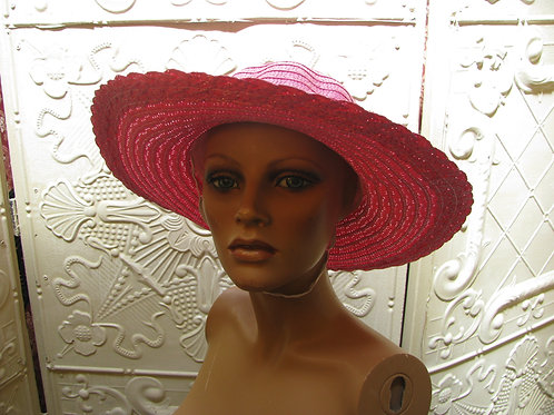 Bright Flat Wide Straw Sun Hat for Derby Chic