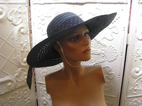 Bow Accent Large Brim Straw Hat