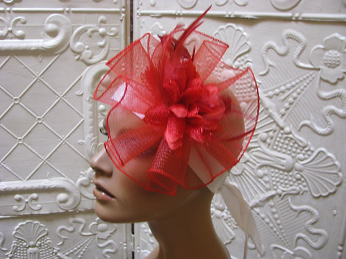 Red Party Glamour Fascinator