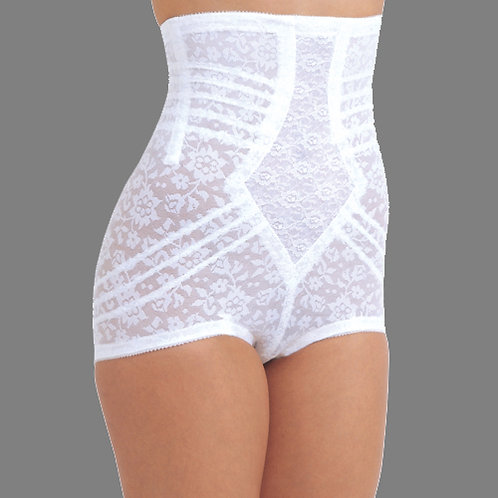 """No Roll"" Lace High Waist Extra Firm Shaping Panty Brief"