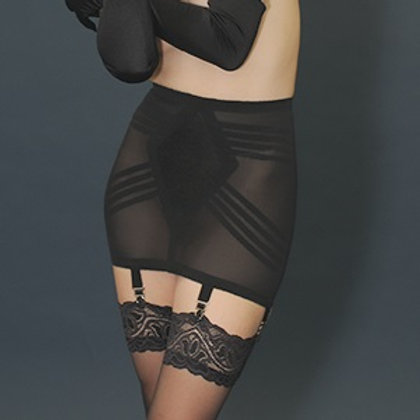Short Open Bottom Girdle with Garters Sexy Madmen