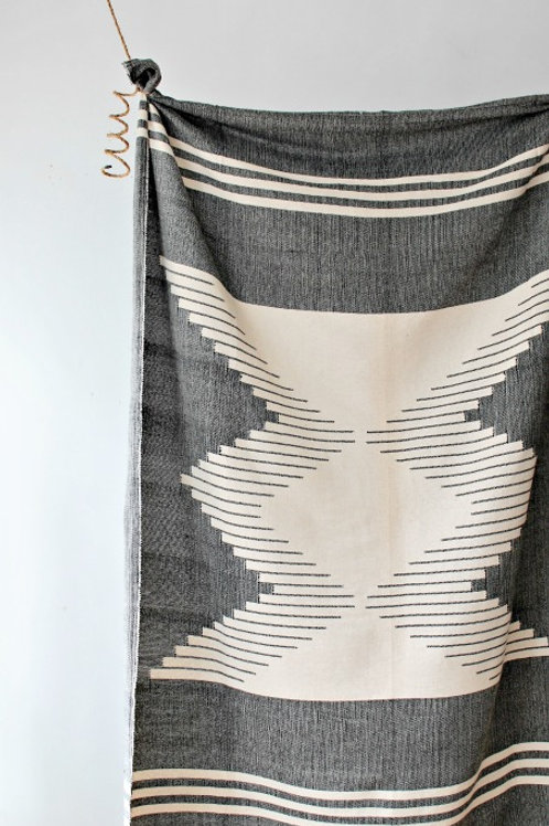 Nazca Throw - Black