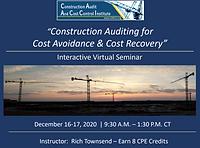 Construction Audit Virtual Seminar Decem