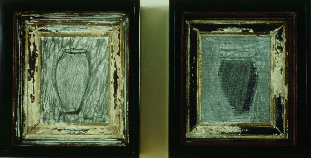 1989 - Two Vase Drawings in Black