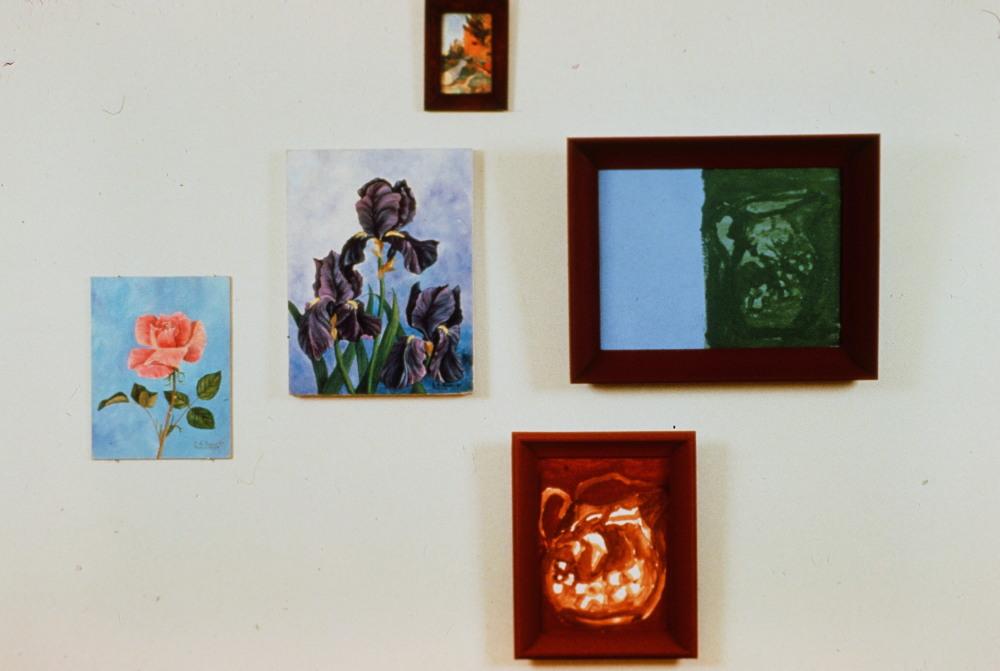 1989 - Art - Pink Roses and Irises