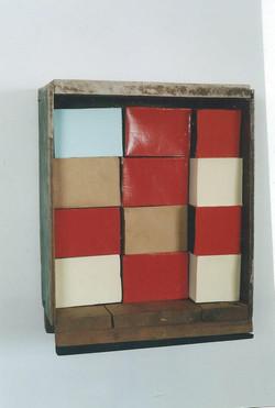 2004 - One blue block, Red brick
