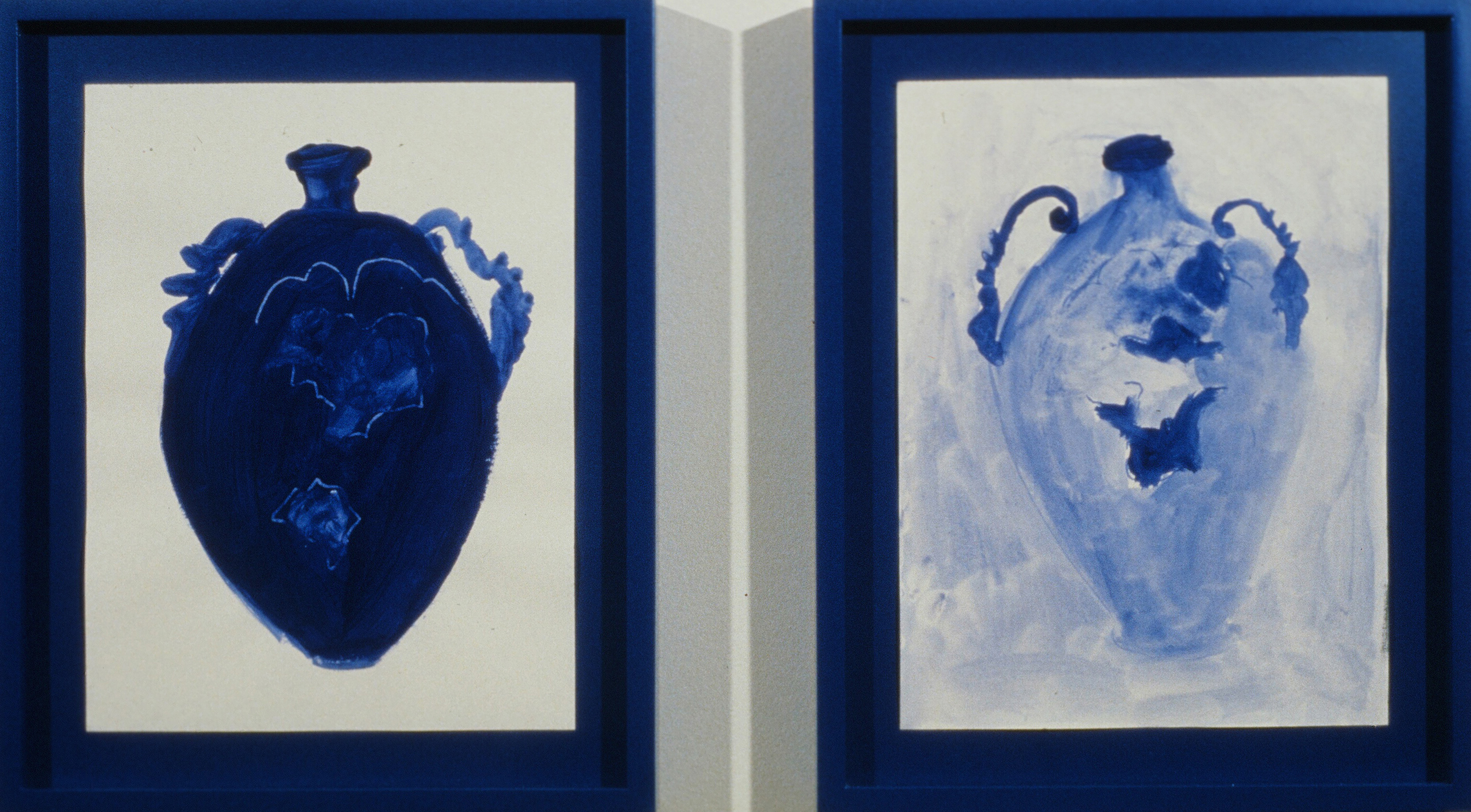 1990 - A Pair of Blue Vases