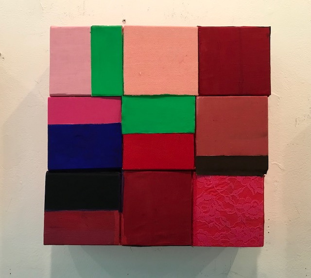 2019 - Pink Square, green rectangles
