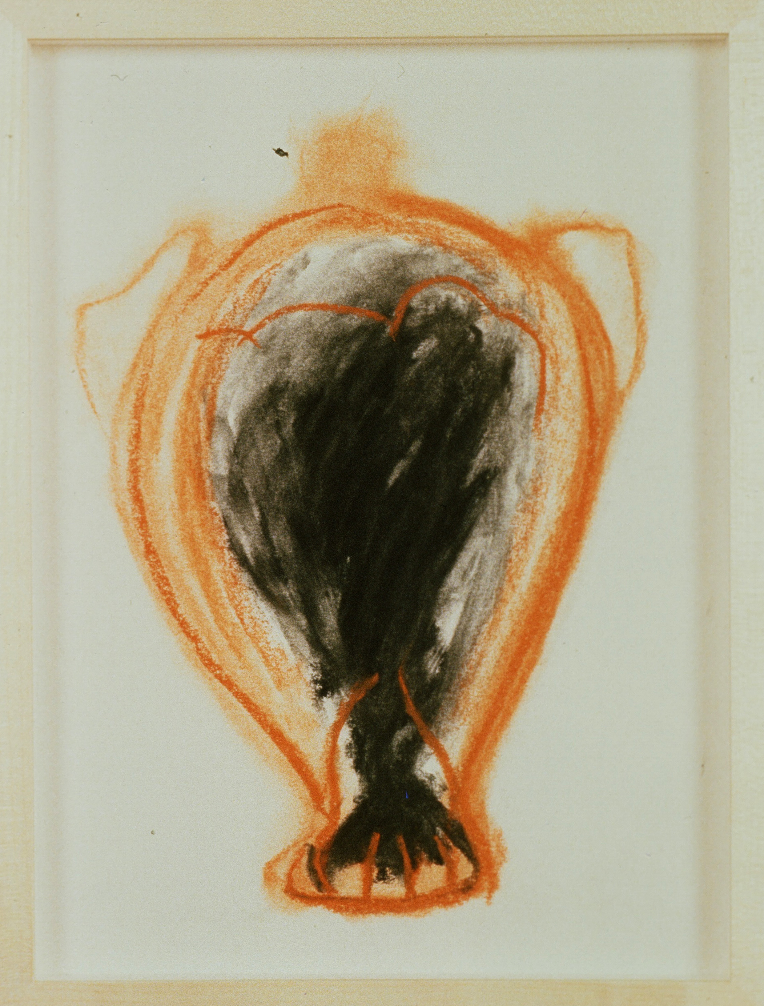 1991 - Vase Drawing black orange