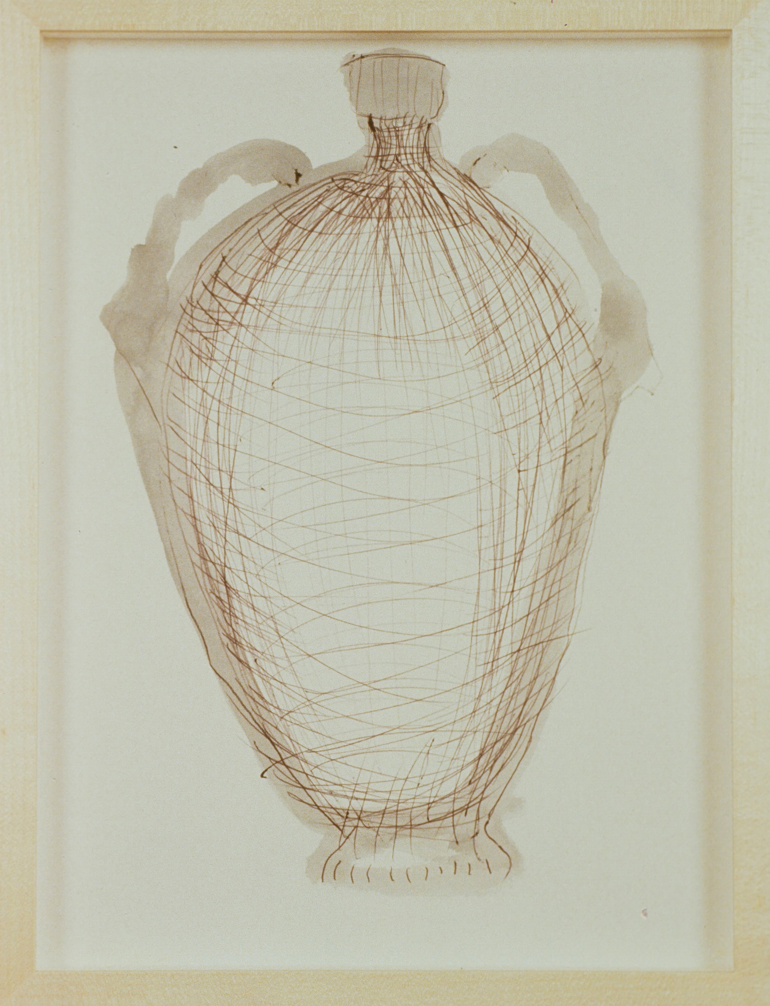 1991 - Vase Drawing brown