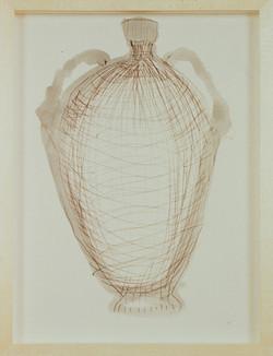 1991 - Vase Drawing brown