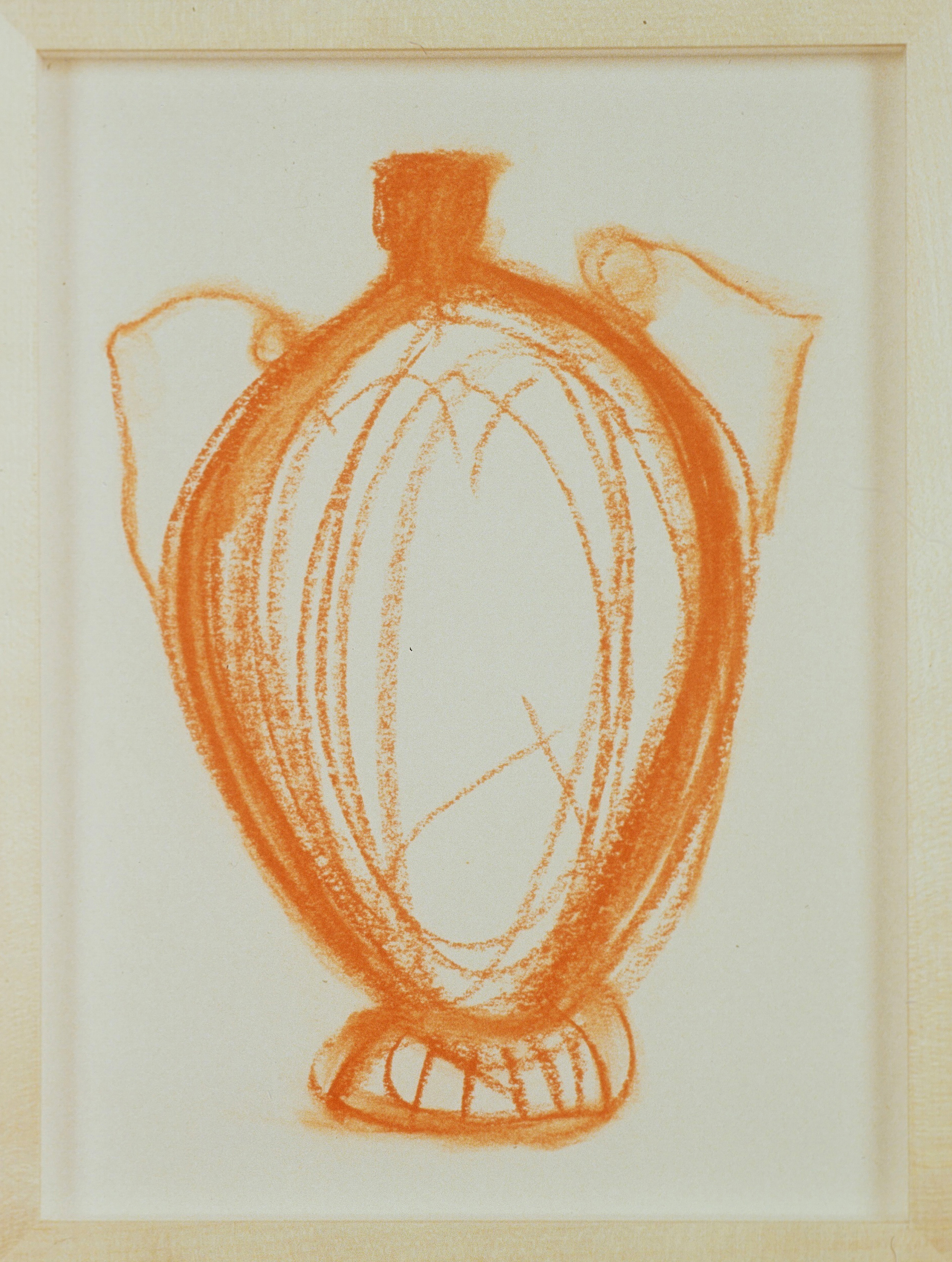1991 - Vase Drawing orange