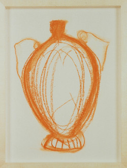 1991 - Vase Drawing orange