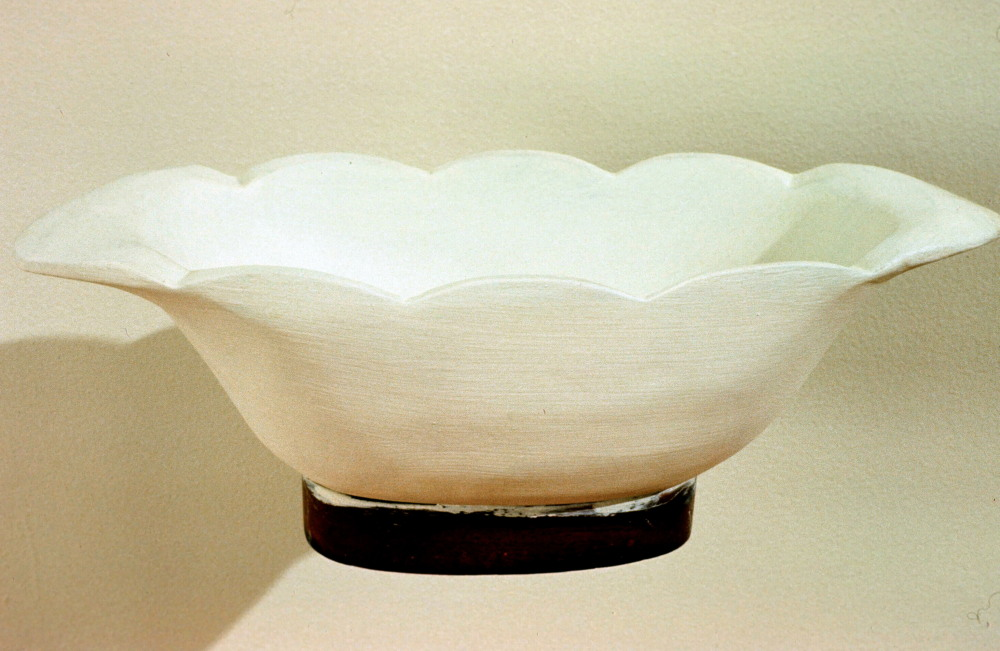 1989 - White Wooden Bowl