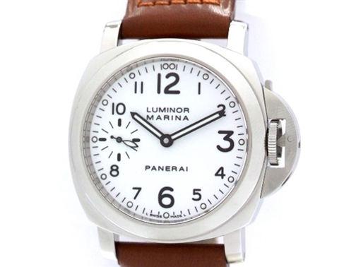 new products 436b6 0566c PANERAI パネライ ルミノールマリーナ PAM00113 SS/革ベルト ...