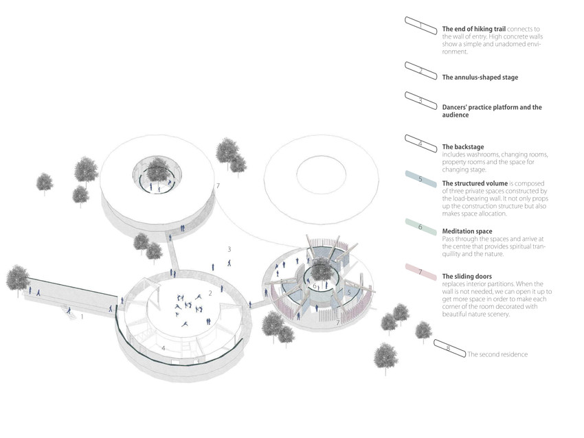Residence exploded isometric drawing