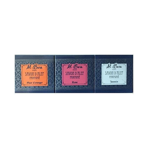 coffret-3-savons-d-alep-parfumes-100-g -