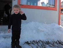 Les enfants adore la pêche aux poulamons