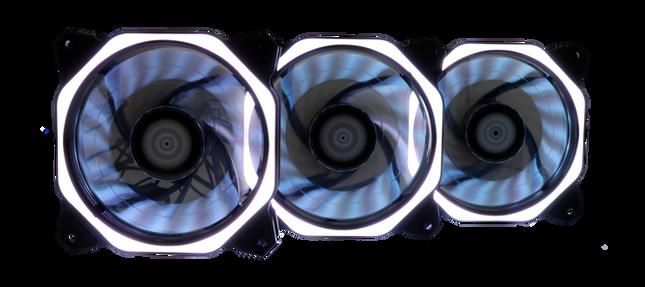 Kit 3 Fans RGB Aura