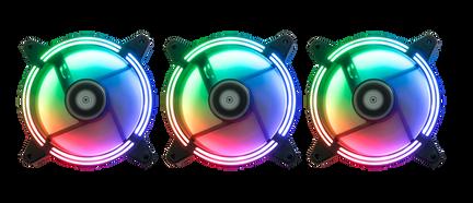 Kit 3 Fans RGB Tornado