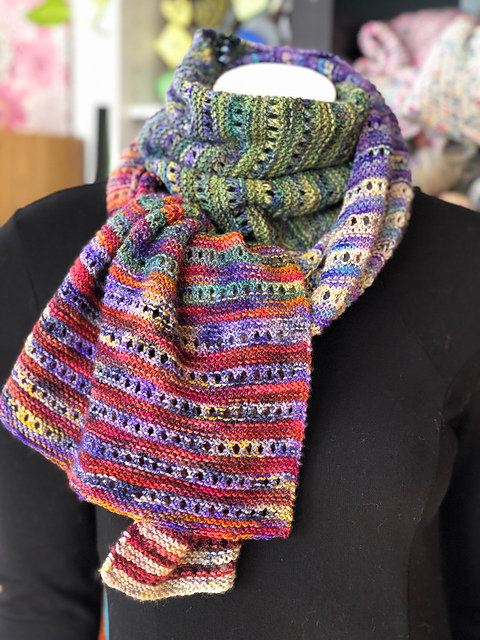 Koigu Pencil Box scarf kit