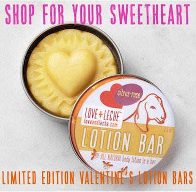 Love + Leche Valentine Lotion Bar