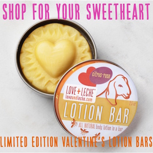 Love + Leche Valentine Lotion Bar