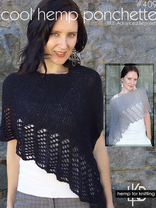 Coll Cotton Poncho in Zooey