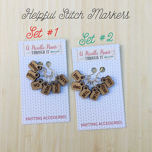 Stitch Markers, Helpers