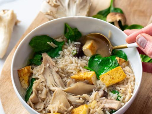 Tofu Mushroom Miso 'Hot-Pot'
