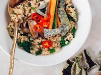 Shiitake Congee with Seaweed Crisps