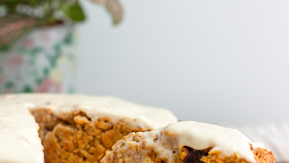 Carrot Cake with Salted Caramel Frosting