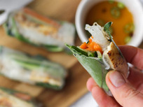 Vietnamese Rice Paper Rolls with Classic 'Fish' Sauce