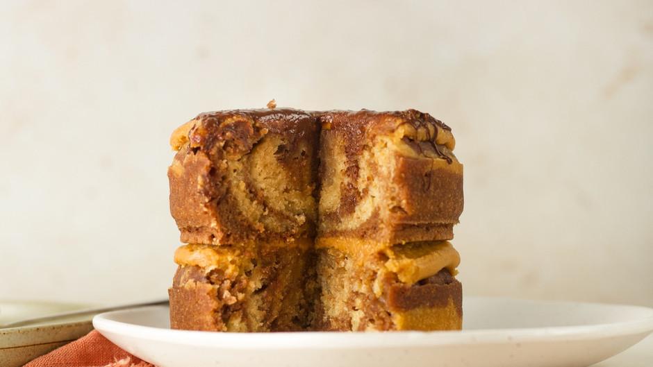 Peanut Butter Chocolate Swirl Cake (vegan)