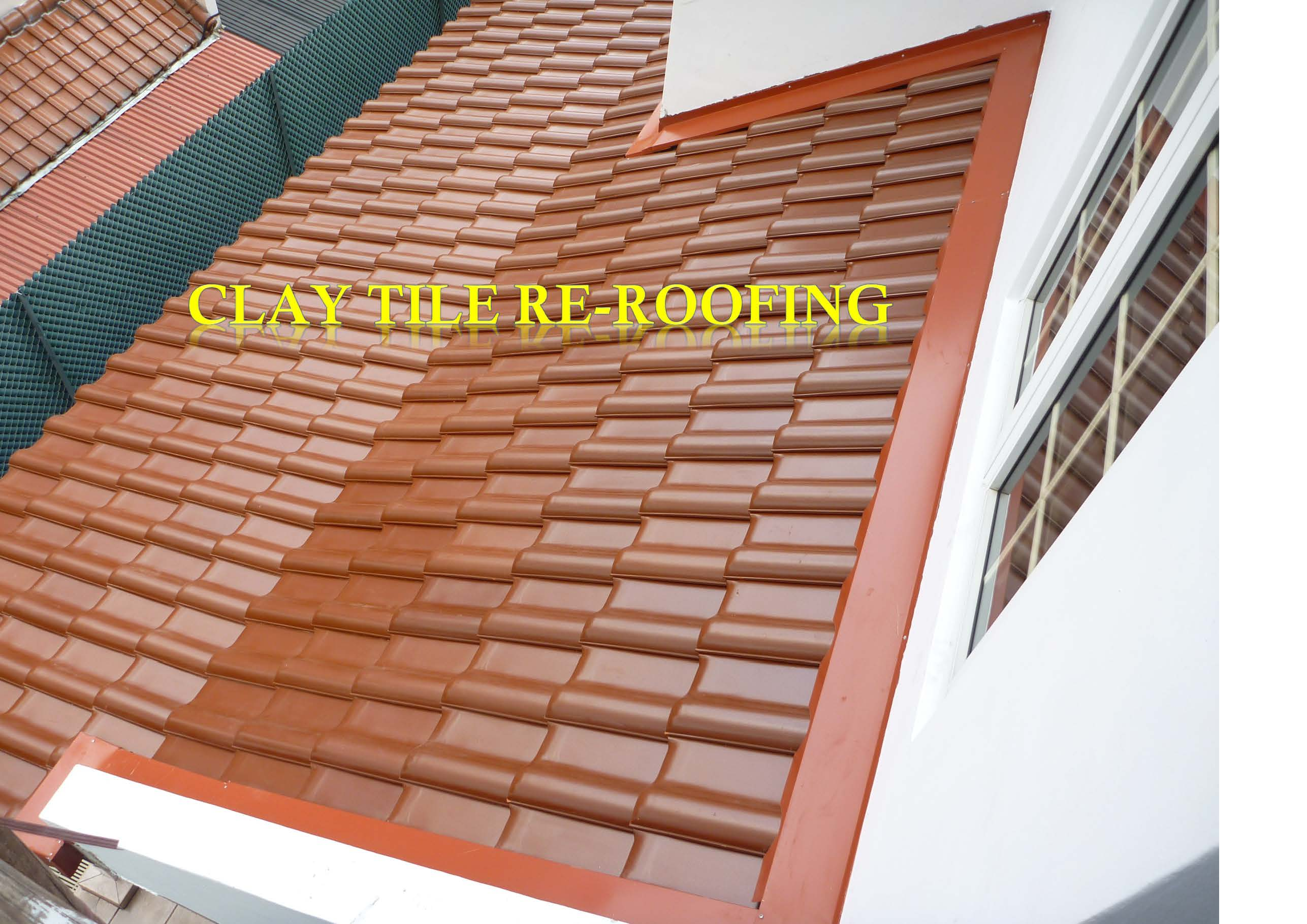 CLAY TILE ROOF RE-ROOFING
