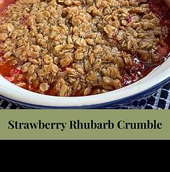 July 21 -Strawberry rhubarb crumble- 16